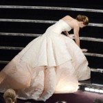 Oscar Highlights: Jennifer Lawrence Takes a Tumble Again