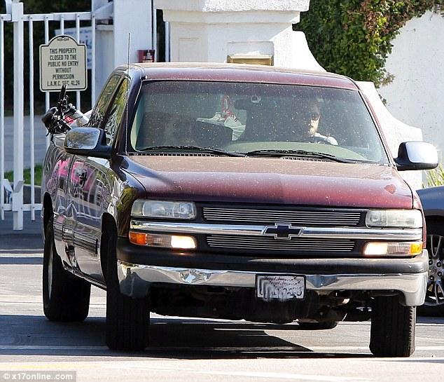 Robert Pattinson red truck