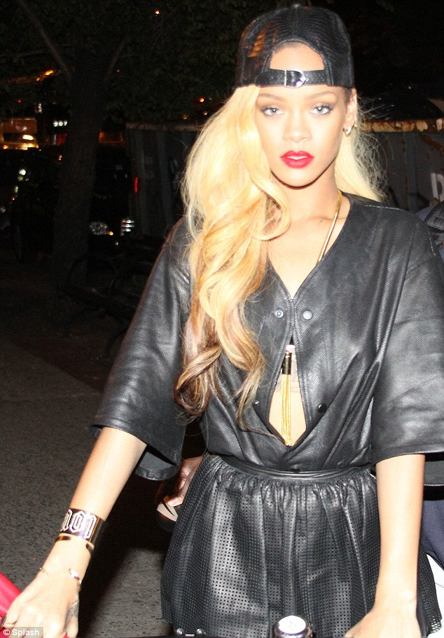 Rihanna Parties on Without Chris Brown: Celebrates with New Hairdo