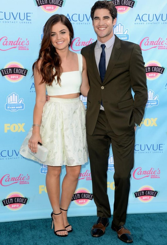Darren Criss and Lucy Hale host this year's Teen Choice Awards. (Getty)