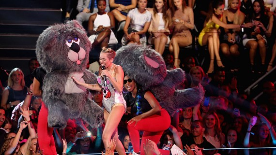 "Miley Cyrus ""can't be stopped"" at shaking it on the VMAs."