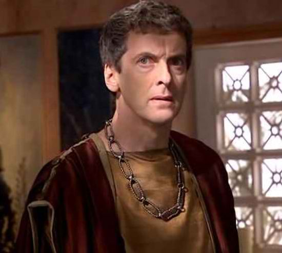 "Capaldi appeared in the 2008 Doctor Who episode ""The Fires of Pompeii"". (BBC)"