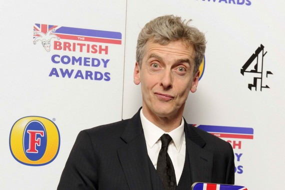 Matt Smith passes the baton to Peter Capaldi. (Mirror)