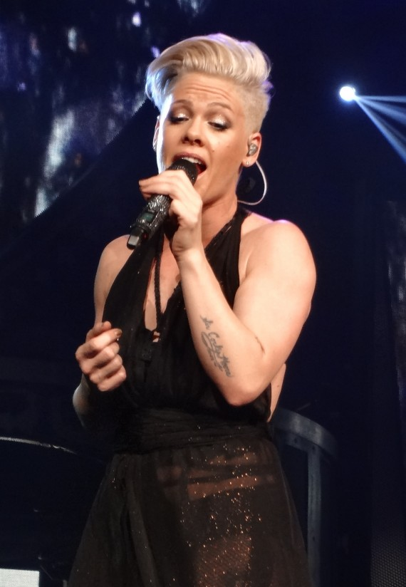 Lesbian or not, P!nk is awesome on stage. (Flickr)
