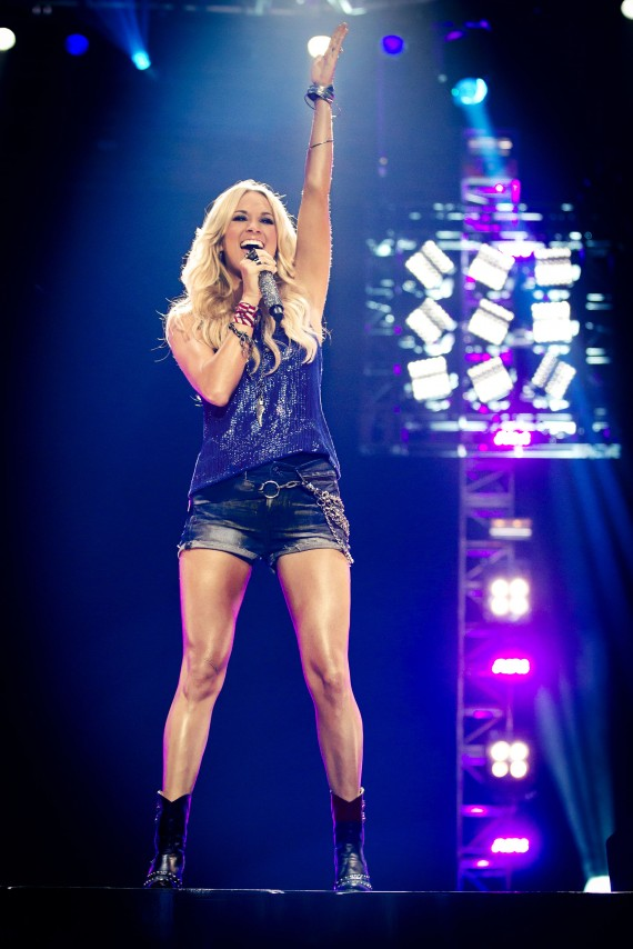 Carrie Underwood has her clumsy moments too. (NBC)