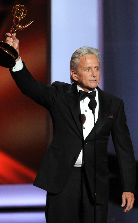 "Michael Douglas earns his first ever Emmy accolade for the Liberace biopic ""Behind The Candelabra"". (Getty)"