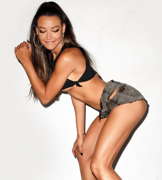 Naya Rivera: the Oakland Raiders' groupie. (Terry Richardson)