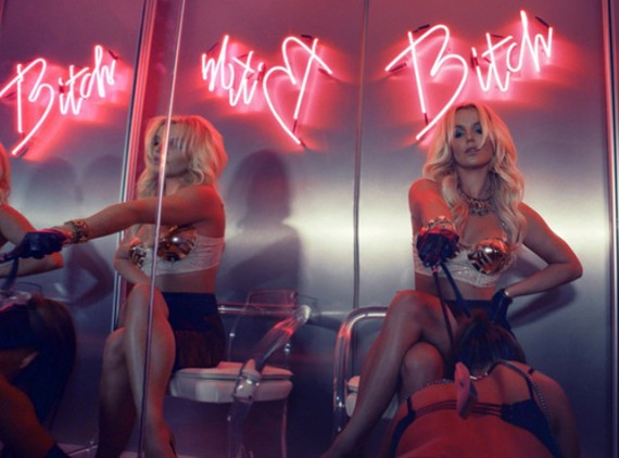 "Queen Britney Spears tells you to ""work b**ch"". (Vevo)"
