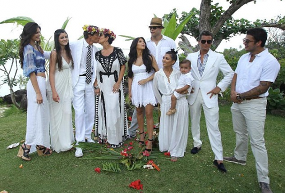 Kris Jenner and Bruce Jenner have renewed their wedding vows two years ago. (Splash News)