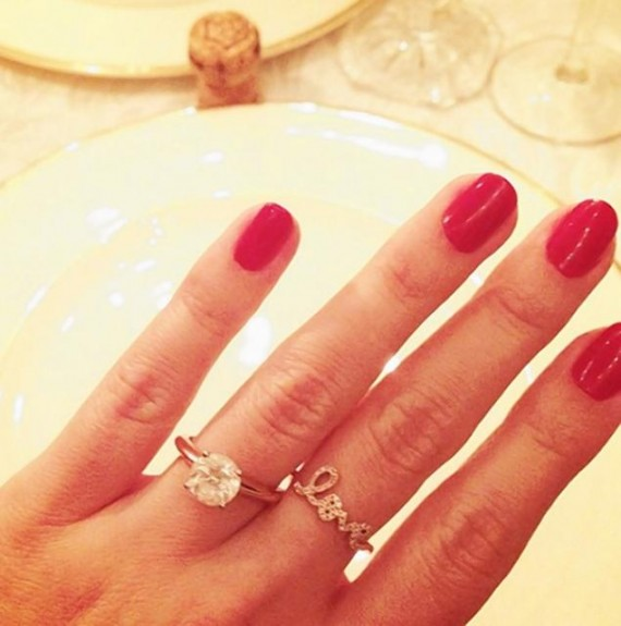 "Here's Lauren Conrad's engagement ring. (Nope, not the ""love"" ring.) [Instagram]"