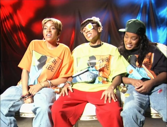 Drew Sidora, Lil' Mama, and Keke Palmer in a recreated scene of an iconic TLC interview. (VH1)