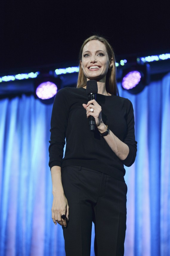 Angeline Jolie talking about Maleficent at the recent D23 Expo.