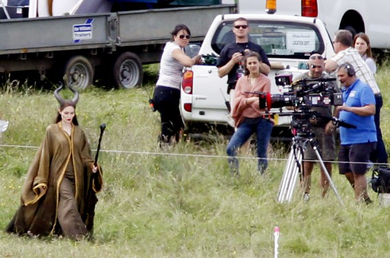 Angelina Jolie on the film's set last year. (Splash News)