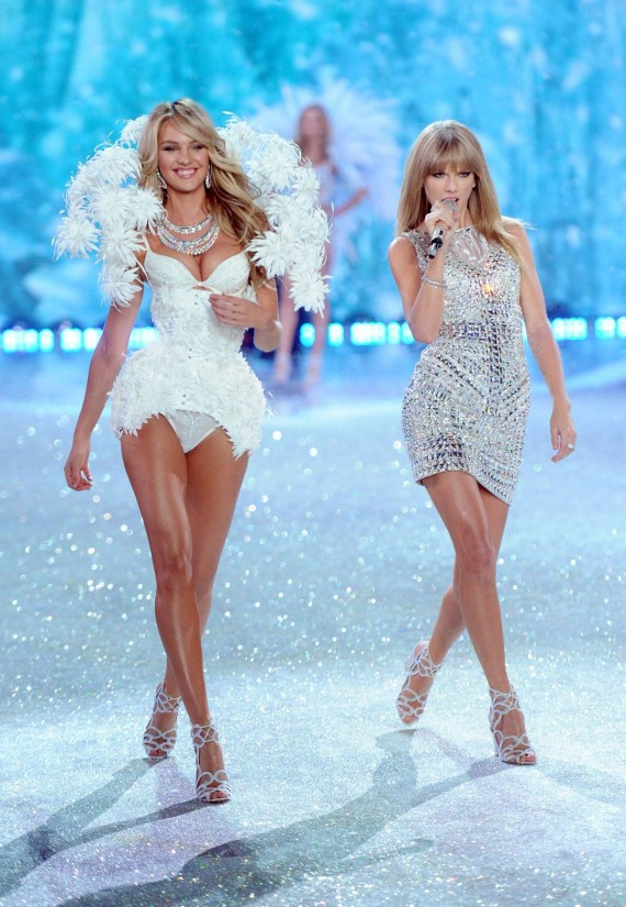 candice swanepoel at 2013 victorias secret fashion show in new york taylor swift fashnberry