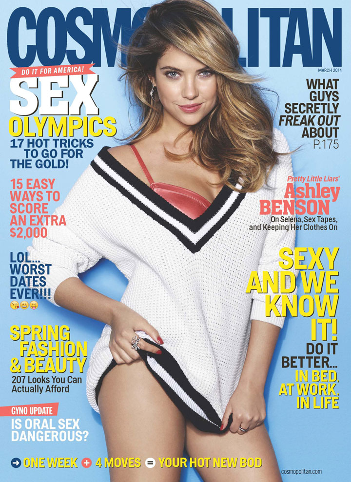 Featured image for Ashley Benson Is Hot, Hot, Hot On The Cover of Cosmo