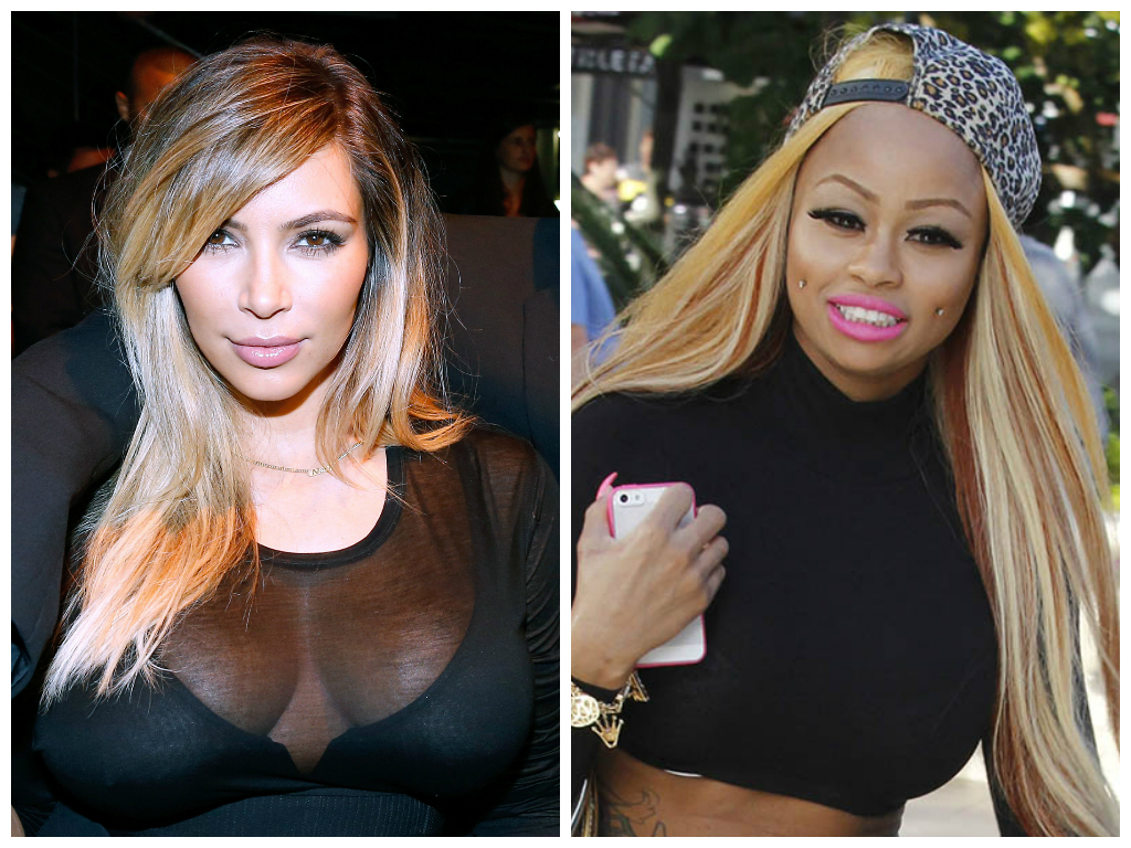 Featured image for Kim Kardashian Shows Off Her Assets With BFF Blac Chyna!