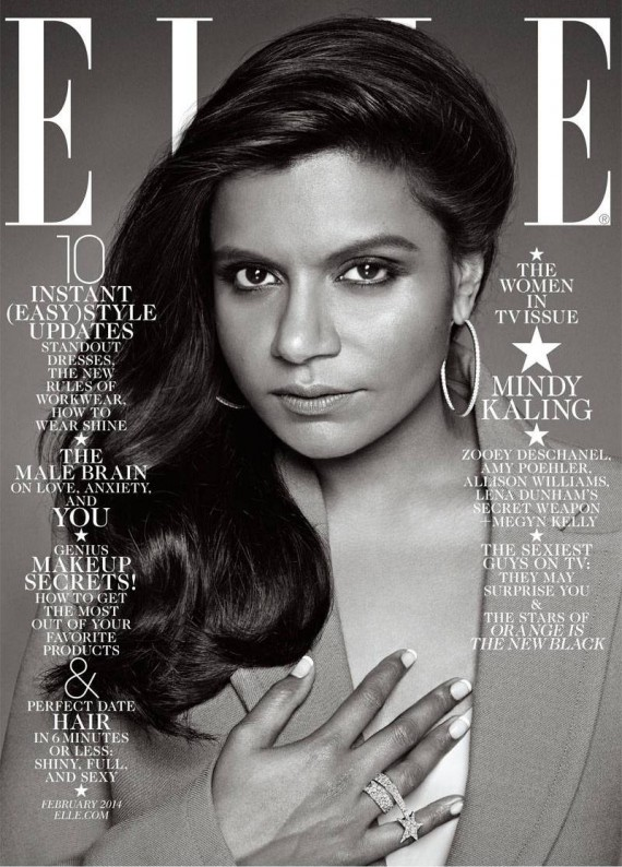 mindy kaling elle cover february