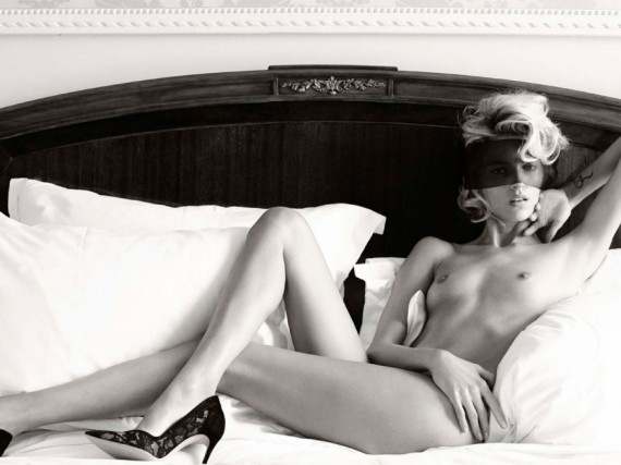 Anja Rubik Topless Bed Vogue Germany
