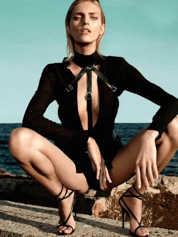 Anja Rubik Vogue Germany Beach
