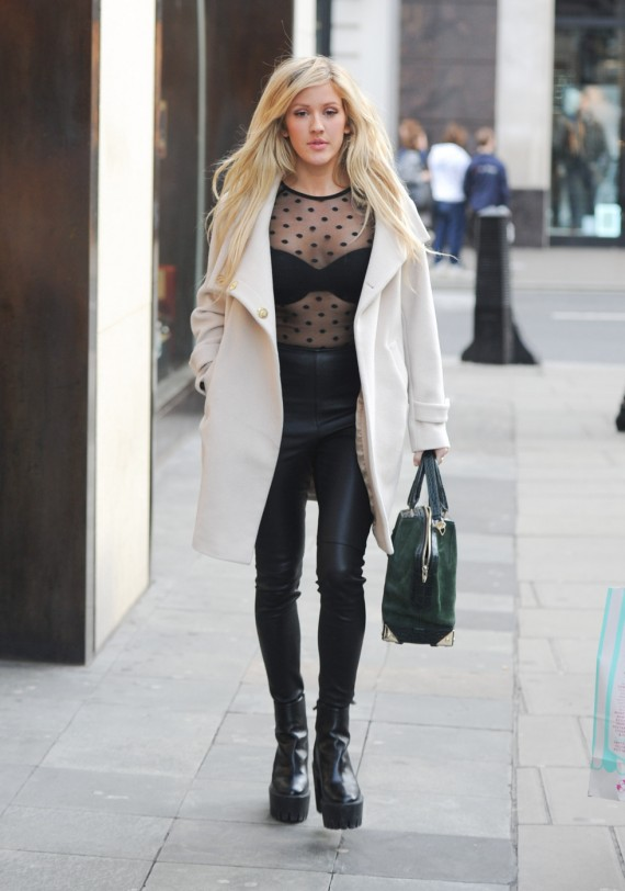 Ellie Goulding leather