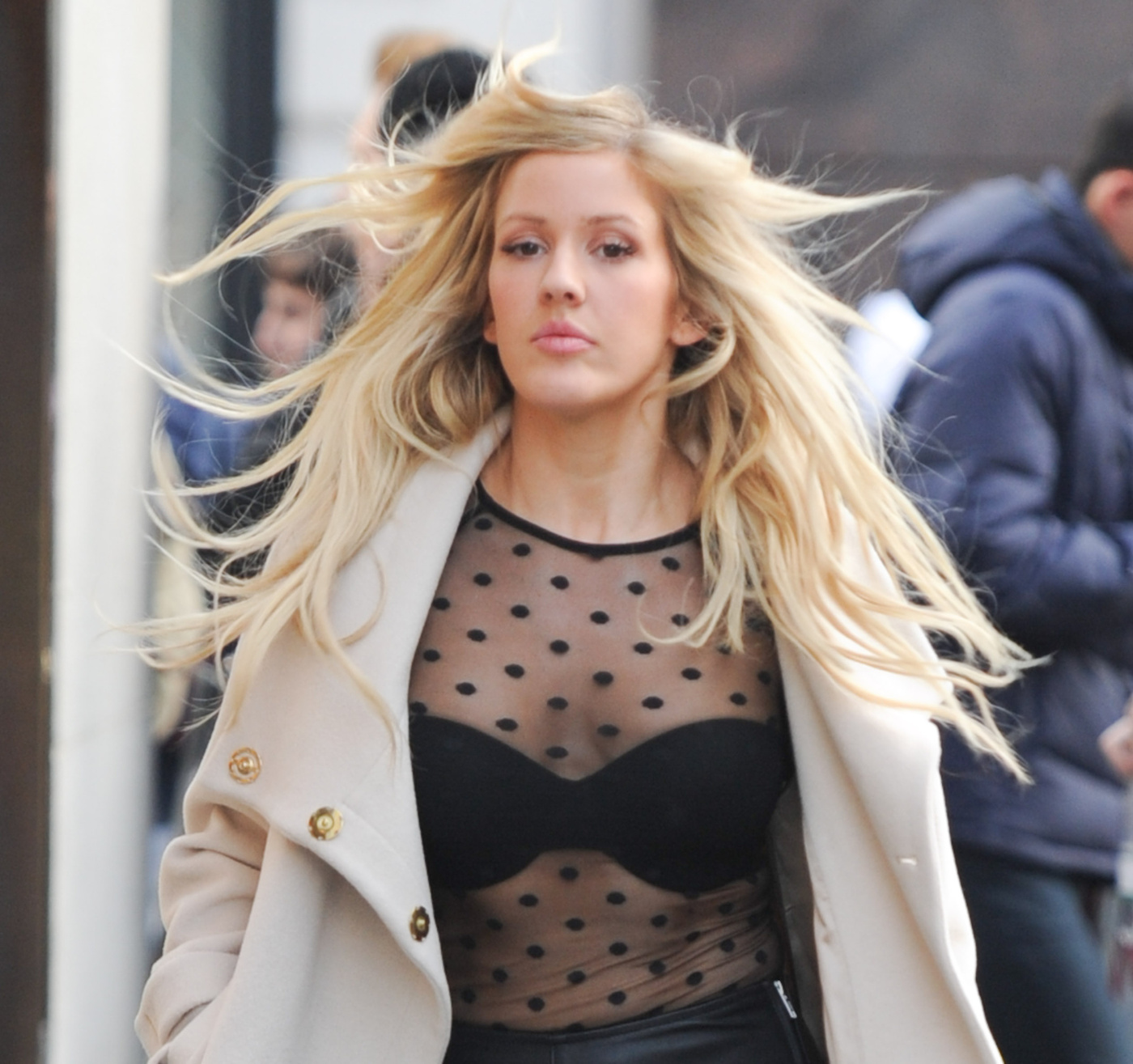 Ellie Goulding Sizzles In See-through Shirt!