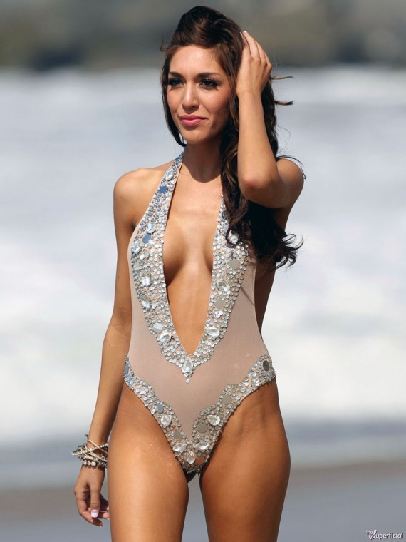 Farrah Abraham hot swimsuit