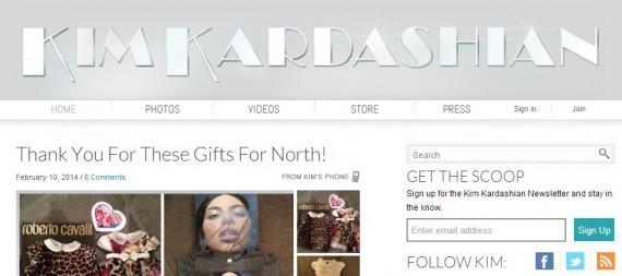 Kim Kardashian blog