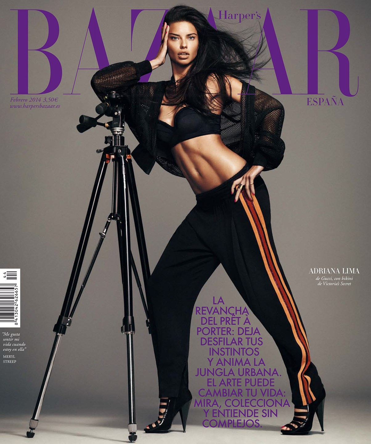 Featured image for Adriana Lima Gets Our Pulses Racing In Harper's Bazaar!