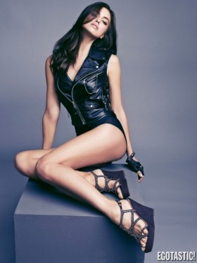 irina shayk leather