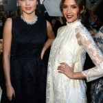 Jessica Alba and Miranda Kerr at Paris Fashion Week