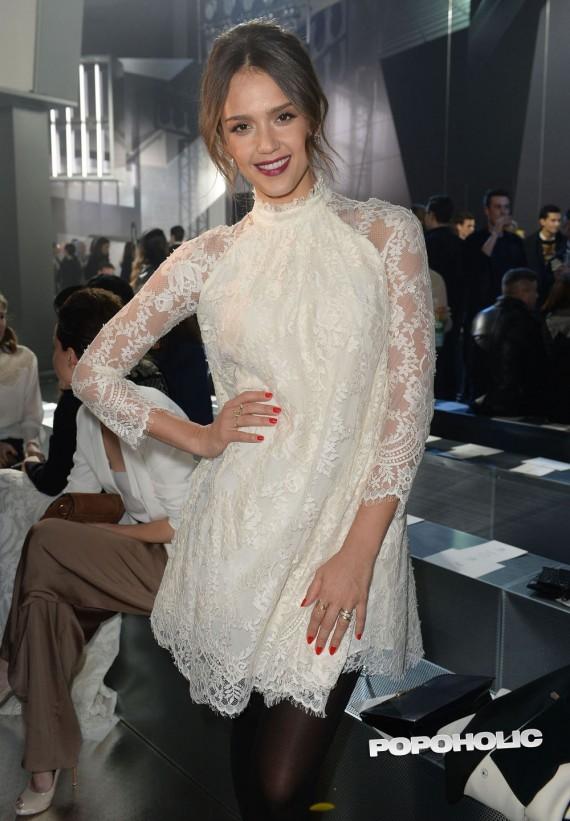 Jessica Alba at Paris Fashion Week