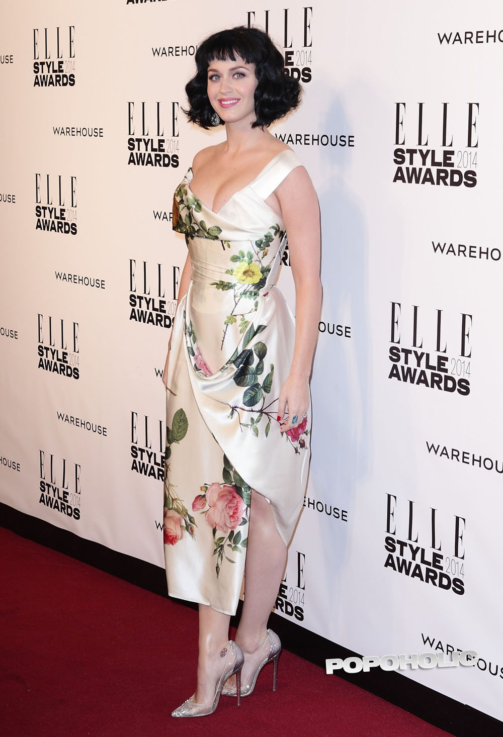 Featured image for Katy Perry at the Elle Style Awards cleavage
