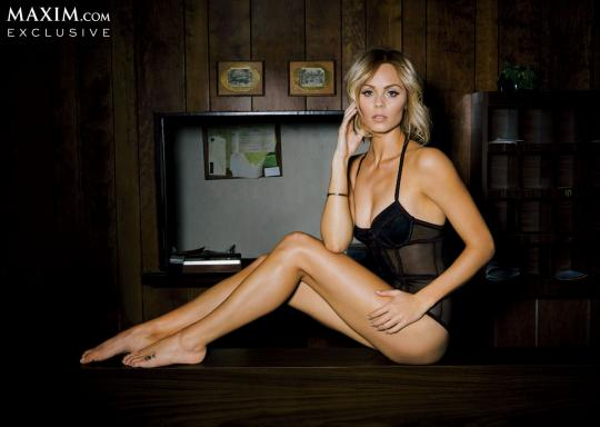Laura Vandervoort Is Maxim's Supergirl This March!