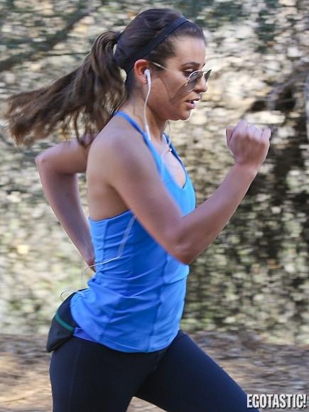 Lea Michele workout