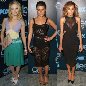 Dianna Agron, Lea Michele and Naya Rivera at Glee's 100'th!