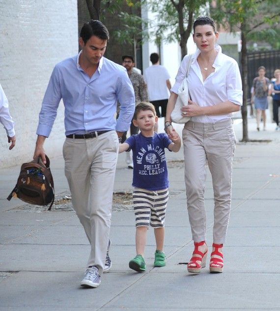 Julianna Margulies & Family Walking Home After Dinner