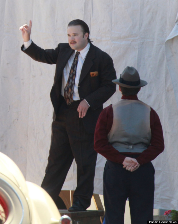 Haley Joel Osment on the set of 'Yoga Hosers' in Los Angeles