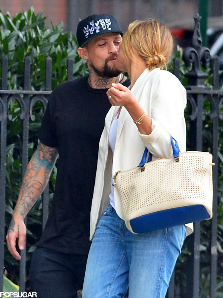 Cameron Diaz and Benji Madden kissing in NYC