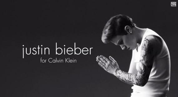 Justin Bieber Calvin Klein spoof SNL (NBC)