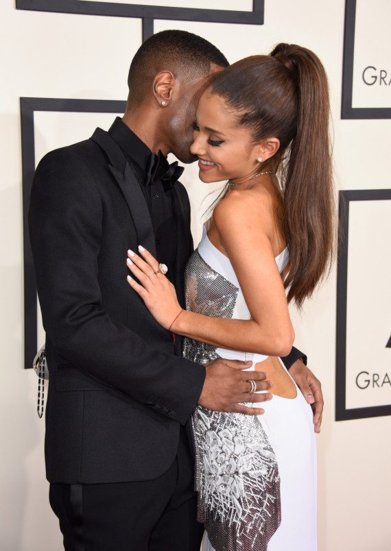 Ariana Grande in Grammys 2015 with Big Sean