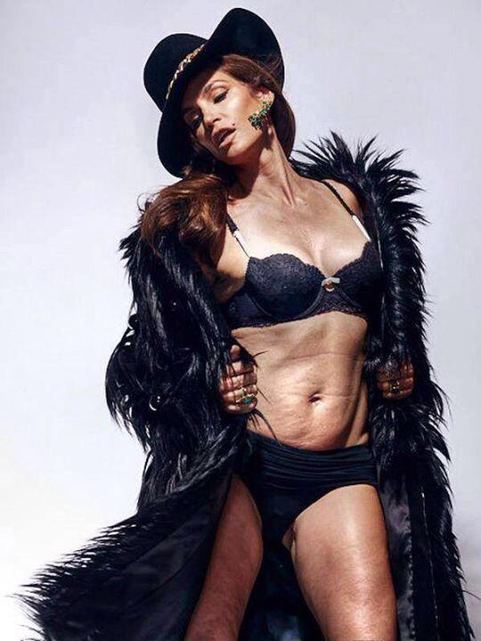 Cindy Crawford Marie Clare unretouched