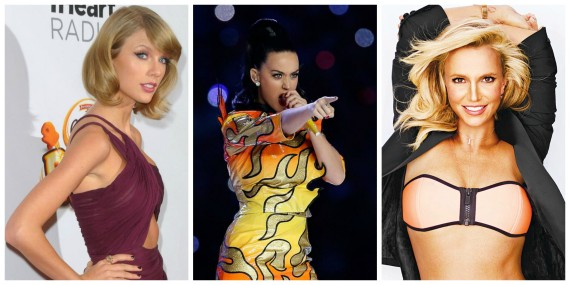 Taylor Swift, Katy Perry, Britney Spears