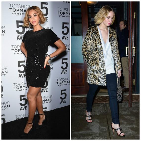 Beyonce & Jennifer Lawrence (Topshop)