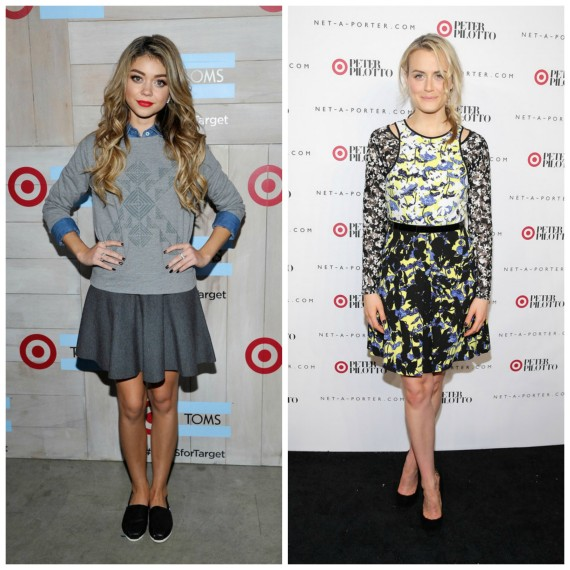 Sarah Hyland and Taylor Schilling (Target)