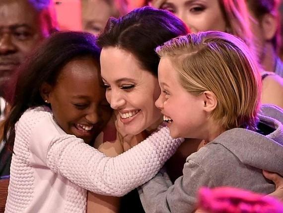 Angelina Jolie and kids at KCA 2015