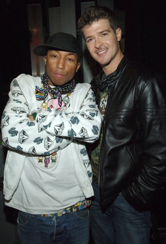 Pharrell Williams and Robin Thicke together