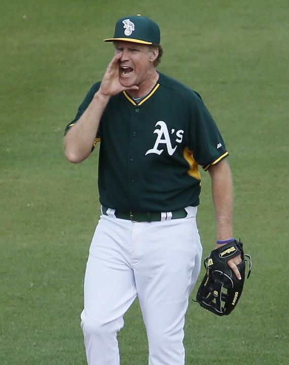 Will Ferrell baseball game (AP)