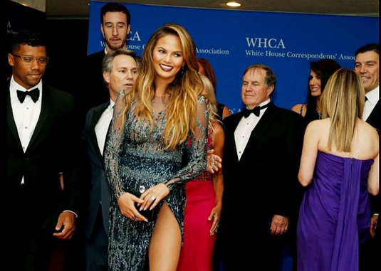 Bill Belichick Caught Checking Chrissy Teigen Out!