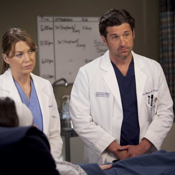 Ellen Pompeo and Patrick Dempsey Greys Anatomy
