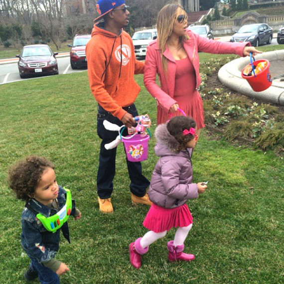 Nick Cannon and Mariah Carey for Easter 2015